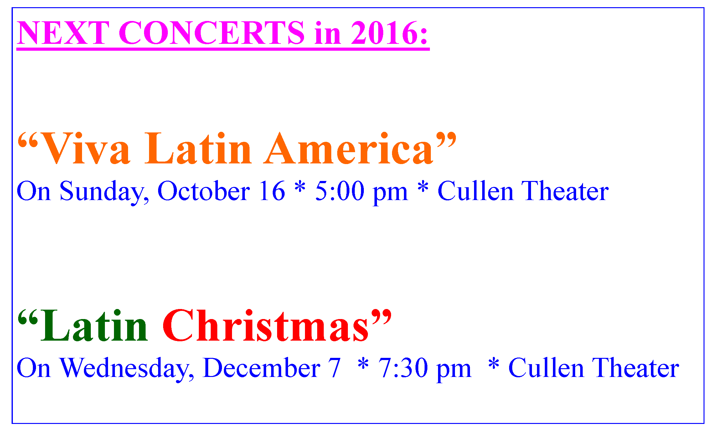 Next Concerts2016